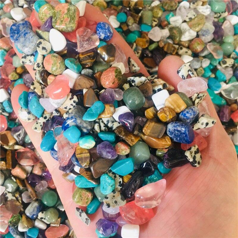 Смесь драгоценных камней 100 г, разные камни, натуральный Радужный красочный минеральный Агат для заживления чакр