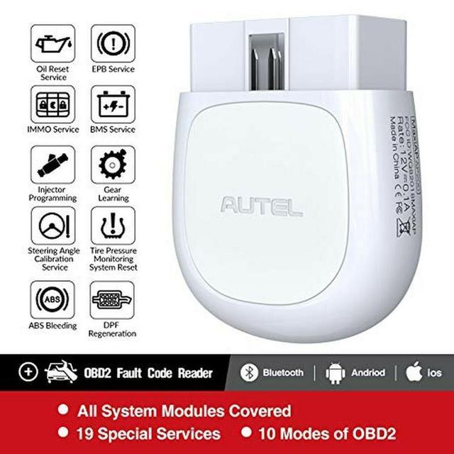 Autel AP200 AP200M بلوتوث OBD2 ماسح الرادار الخاص بالسيارة OBD 2 أداة تشخيص أعطال سيارات لتقوم بها بنفسك رمز القارئ autoالماسح PK MK808 Thinkdiag