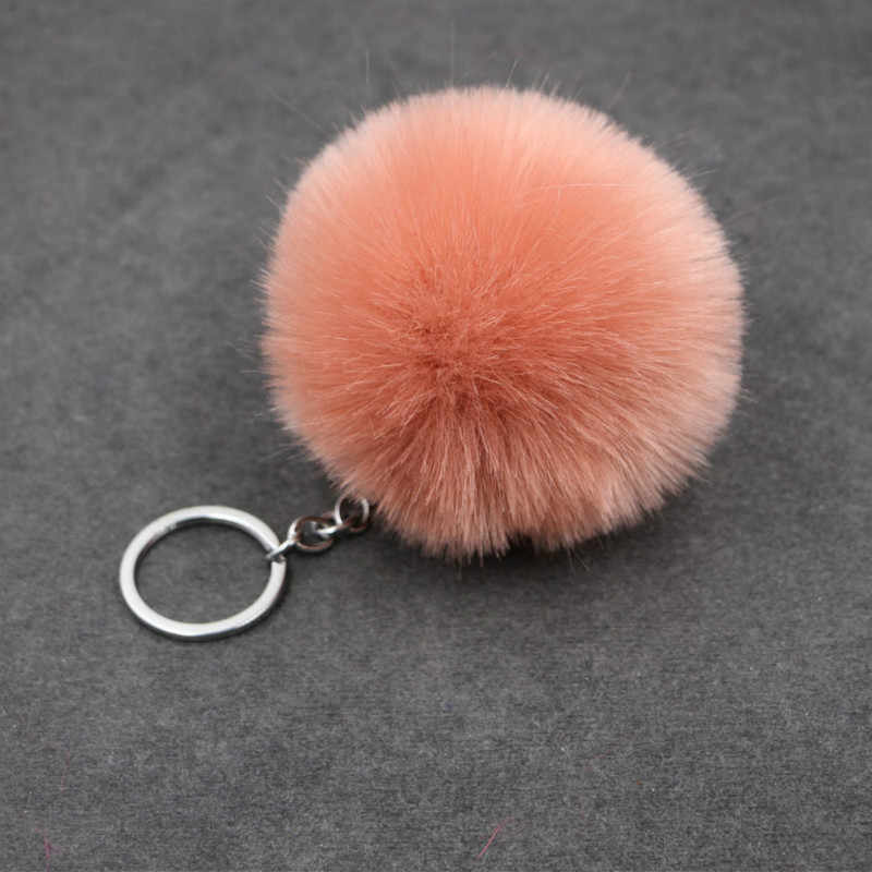 1PCS Pink Hairy Key Ring Party Favor Gift Family Friend Baby Souvenirs Birthday Valentines Day Gift Festive Party Event