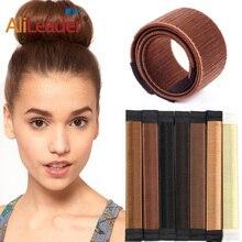 Alileader, новинка, повязка на голову с пончиком, Женские аксессуары для волос, волшебные волосы для девочек, сделай сам, инструмент для изготовл...