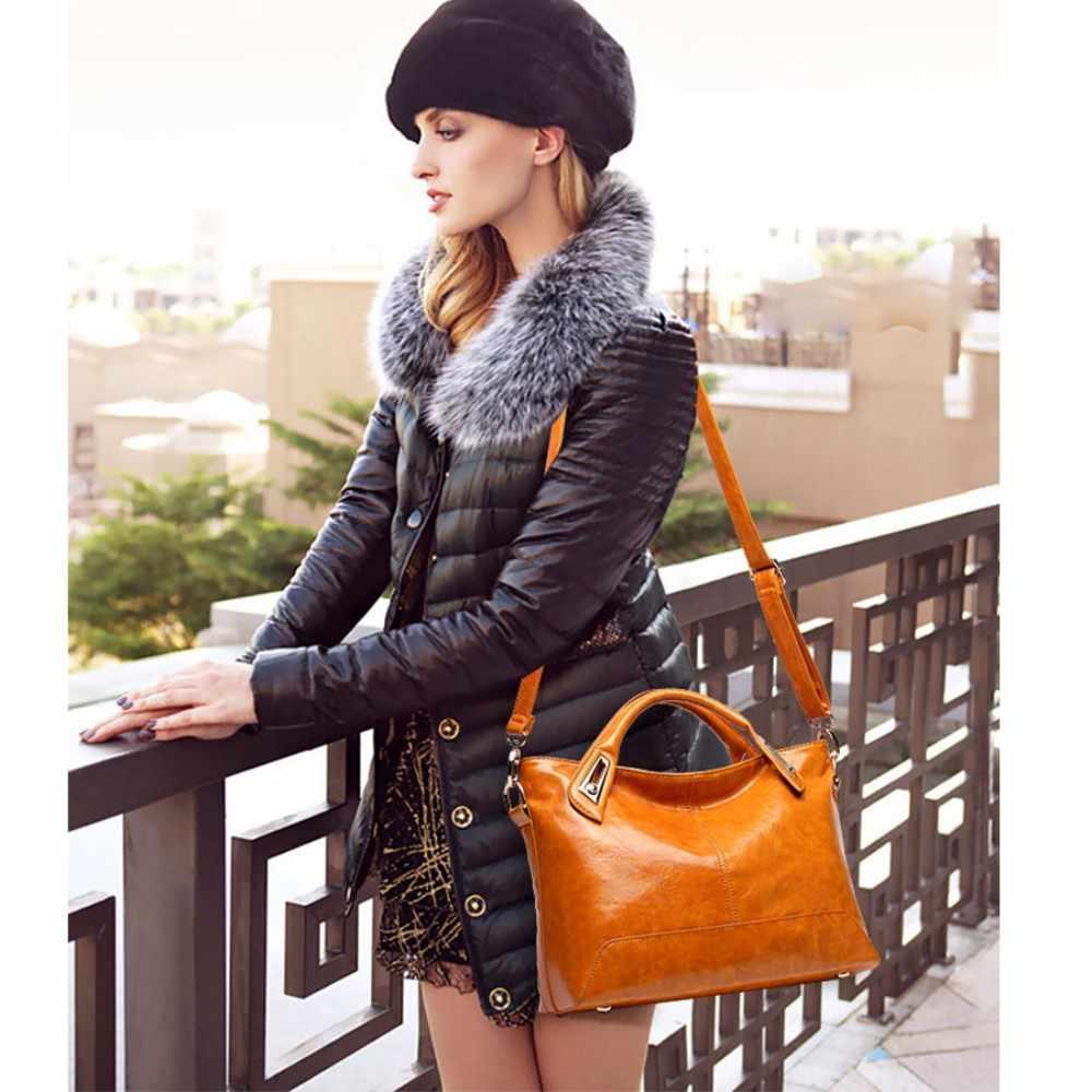 100% Hakiki deri Kadın çanta 2019 Yeni Kesit Taşınabilir Omuz Motosiklet Çantası Moda Bağbozumu Messenger