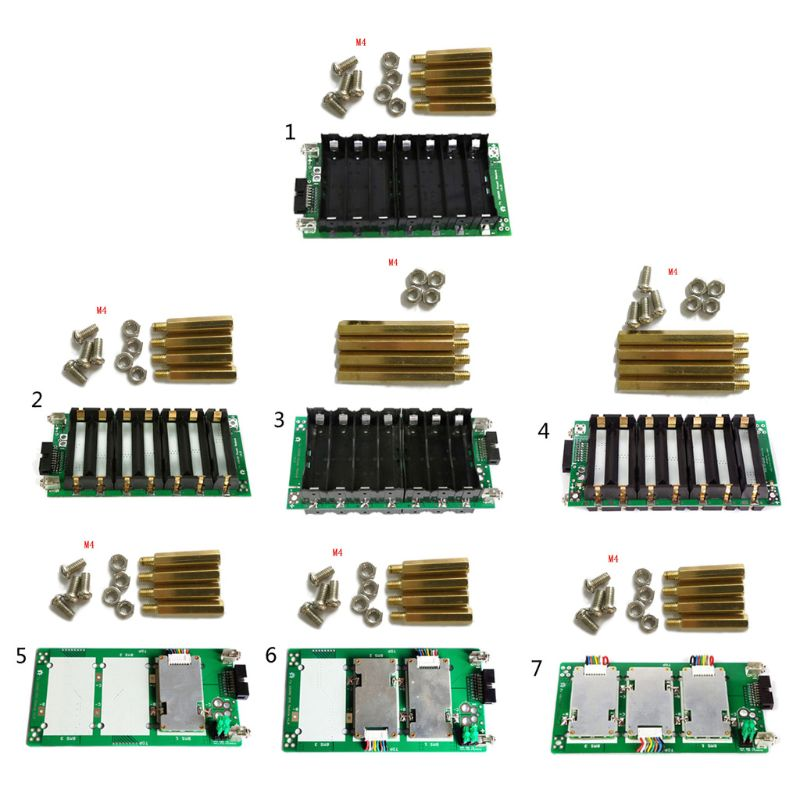 7S <font><b>Power</b></font> Wall Balancer PCB Module <font><b>Power</b></font> <font><b>Bank</b></font> Case <font><b>18650</b></font> 29.4V Battery Holder 20A 40A 60A Battery Box Protection <font><b>Board</b></font> image