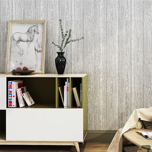 3D Nonwoven Fabric Coining Imitation Wood-grain Wallpaper Abstract Cafe Clothing Store Hotel Personalized Background Wallpaper
