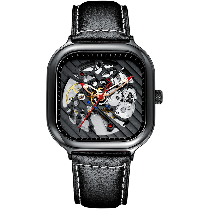 2020 new men's automatic watch top brand luxury silicone strap hollow Swiss square top ten watches 15