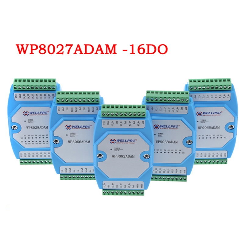 Digital Output Module, Switch Module, Isolated 16-channel DO MODBUS Communication-WP8027ADAM