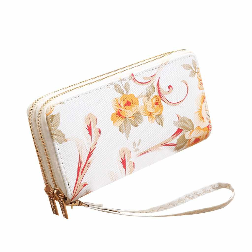 Bolsa feminina carteira de couro do plutônio moda carteira longa tendência feminina cor sólida longo padrão rosa carteira de cartão das mulheres