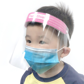 Transparent Adjustable Full Face Shield Kids Children Plastic Anti-fog Protective Mask Cover Hats Visor Sun Hat Hot Sale 2020
