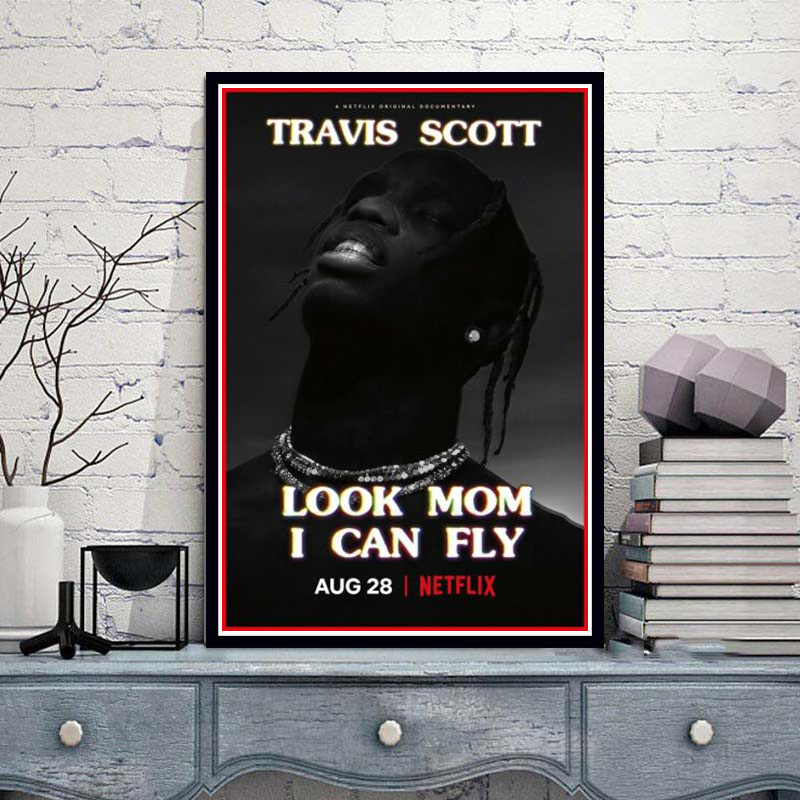Poster Prints Travis Scott Look Mom I Can Fly Movie 2019 TV Show Series Painting Art Wall Pictures For Living Room Home Decor