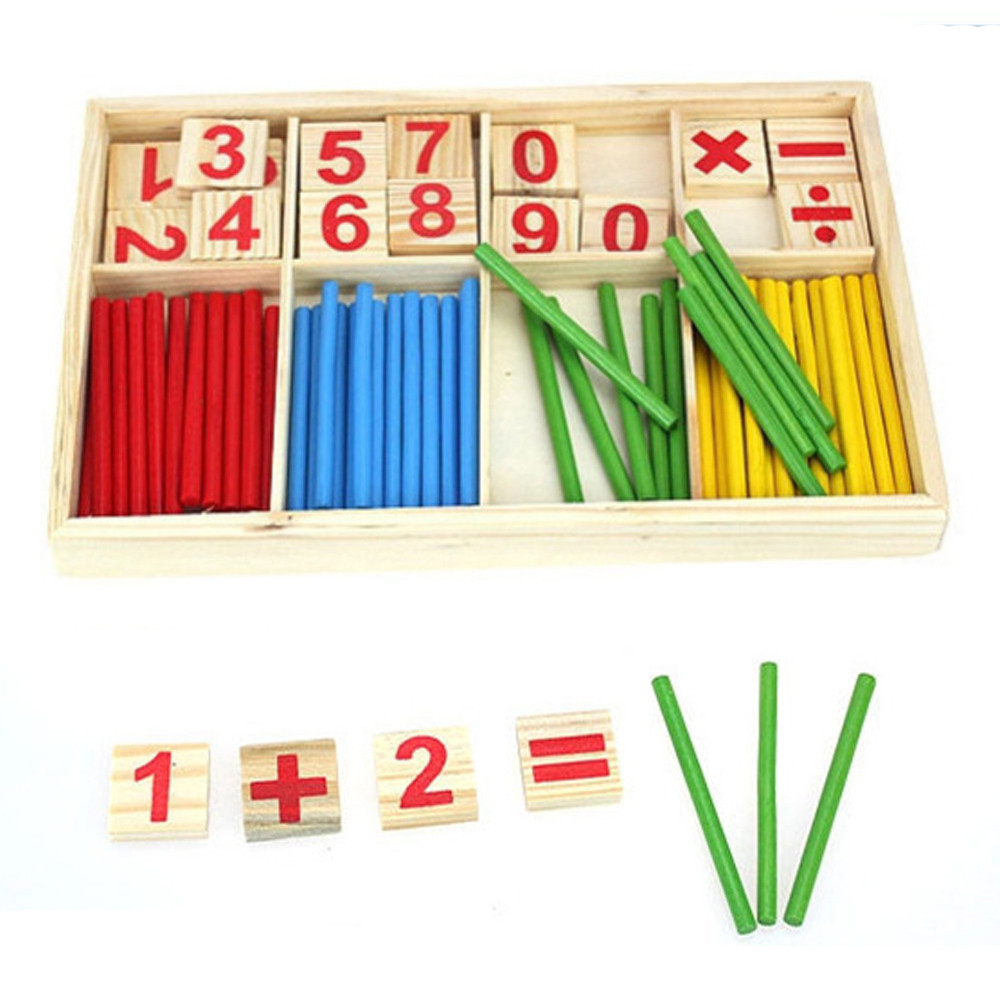2020 Douyin New Children's Educational Toys Kids Child Wooden Numbers Mathematics Early Learning Counting Educational Toy L0120