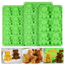 Bear biscuit mold Chocolate Fudge Mold Silicone Mold Food Grade Silicone Cake Mold   silicone mold bear biscuit mold chocolate fudge mold silicone mold food grade silicone cake mold silicone mold