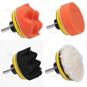 """Image 2 - 3 """"esponja do carro almofada de polimento disco polimento buffer depilação adaptador broca kits para reparação farol roda polidor refurbish ferramentas"""