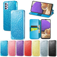 Embossed Wallet Case for Samsung Galaxy A32 A72 A52 A51 A71 5G A50 A30 A21S A11 Luxury Leather Magnetic Flip Protection Cover