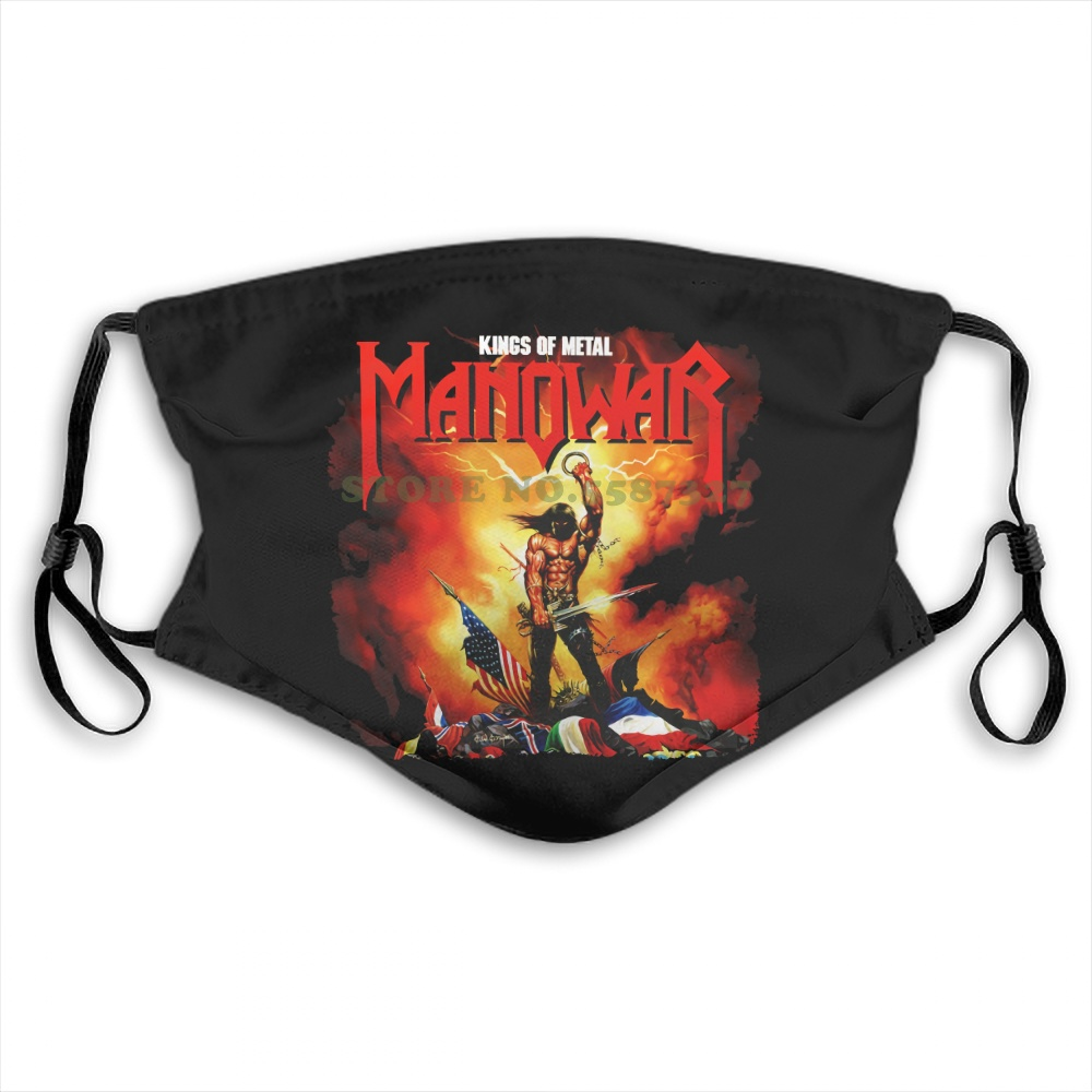 Face Mask Free Shipping Kings Of Metal Manowar Cover Heavy Metal Power Metal In Summer Hot Sale Print Diy Masks