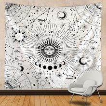 Tapestry Boho-Decor Macrame Wall-Hanging Sun-And-Moon