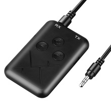 2 in 1 Bluetooth 5.0 Transmitter Wireless 3.5mm Jack Audio Adapter Stereo Music Receiver Adapter Audio Cable for TV Car Speaker цена