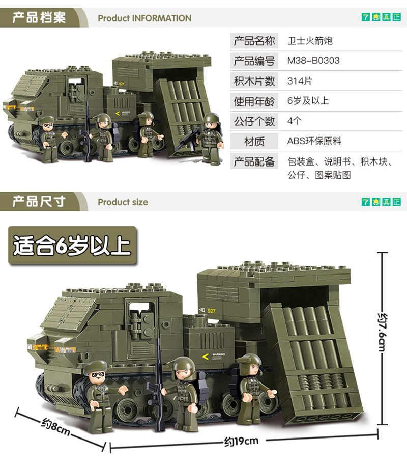 Slubanเข้ากันได้กับทหารถังสงครามโลก 2 Army Figuresชุดทหารอาคารบล็อกอิฐเฮลิคอปเตอร์ของเล่น