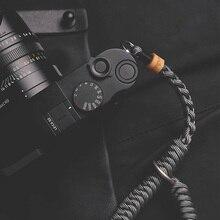 Yeni bay taş özel sicim serisi el dokuma kamera bilek kayışı asılı halat el halat