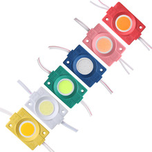 Moduł Led 12V Cob reklama projekt Signage podświetlany wodoodporny IP65 biały czerwony zielony niebieski żółty różowy znak reklamowy światło 10 sztuk partia tanie tanio HAIMAITONG CN (pochodzenie) ROHS 12 v Moduły LED LED-Module-COB-4830 super bright 30mm