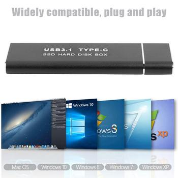 Hard Disk Case SSD USB3.1 Type C to M.2 NGFF External Hard Drive Enclosure Case for m2 SATA SSD USB 3.1 2230/2242/2260/2280