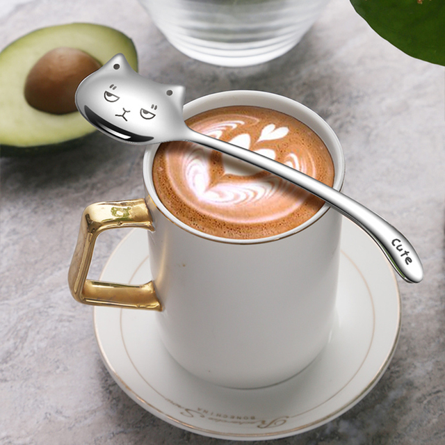 Creative Cat Spoon For Coffee  1