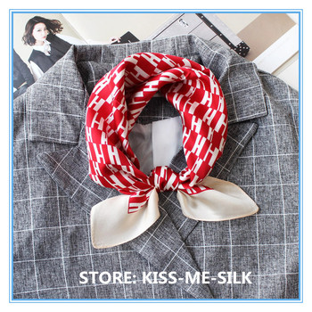 KISS-ME-SILK Silk satin small square scarf mulberry-silk wrap for Girl Lady Woman Women 53*53cm/15g