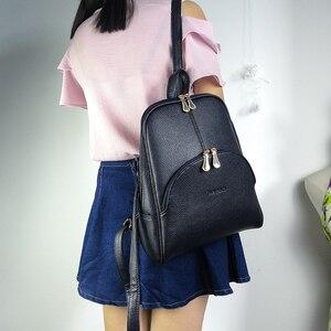 Image 5 - NEVENKA النساء على ظهره حقيبة ظهر مصنوعة من الجلد Softback أكياس العلامة التجارية اسم حقيبة Preppy نمط حقيبة حقيبة عادية حزمة المراهقين على ظهره كيس