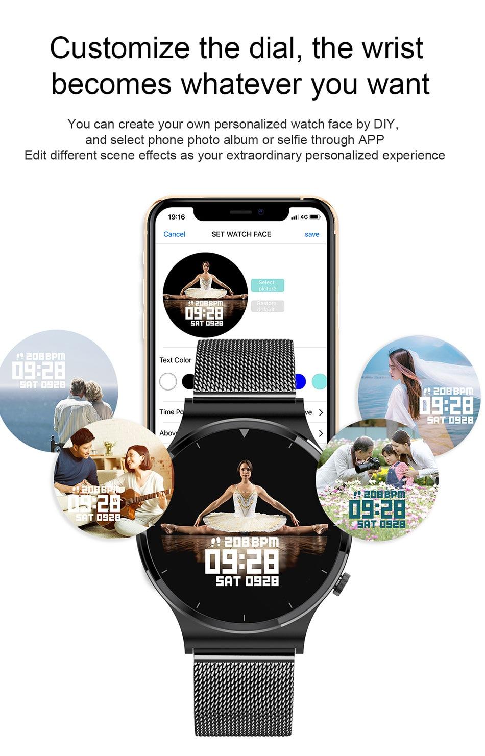 Ha407e48fed904b818b053c9b115ad47ef LIGE 2021 New Smart watch Men IP68 waterproof watch Multiple sports modes heart rate weather Forecast Bluetooth Men Smart watch