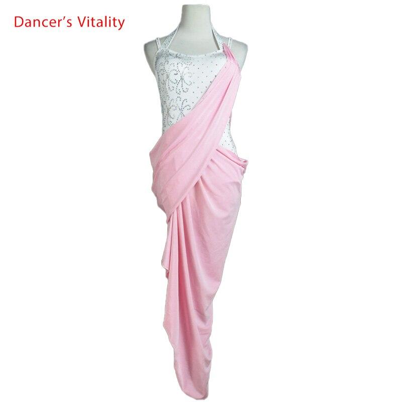 Diamond Latin Dance Dress Women Harness Style Irregular Salsa Tango Rumba Flamengo Ballroom Latin Dance Competition Costumes