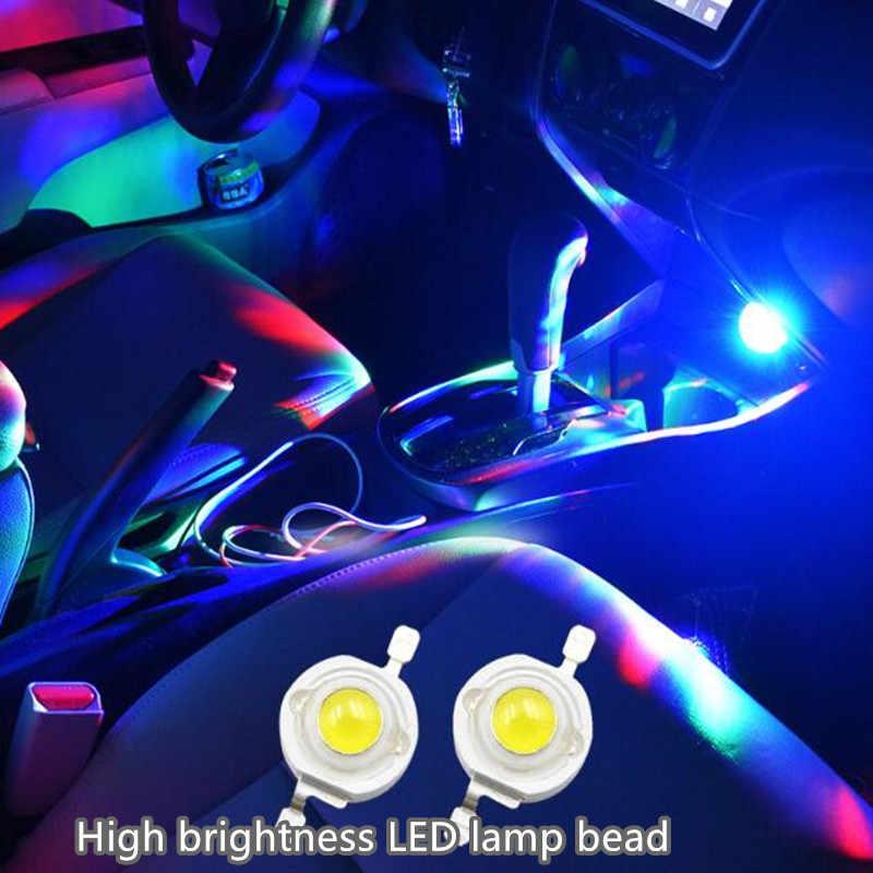2019 yeni çok renkli USB LED araba iç aydınlatma kiti atmosfer ışığı Neon renkli lambaları ilginç taşınabilir aksesuarları 1 adet
