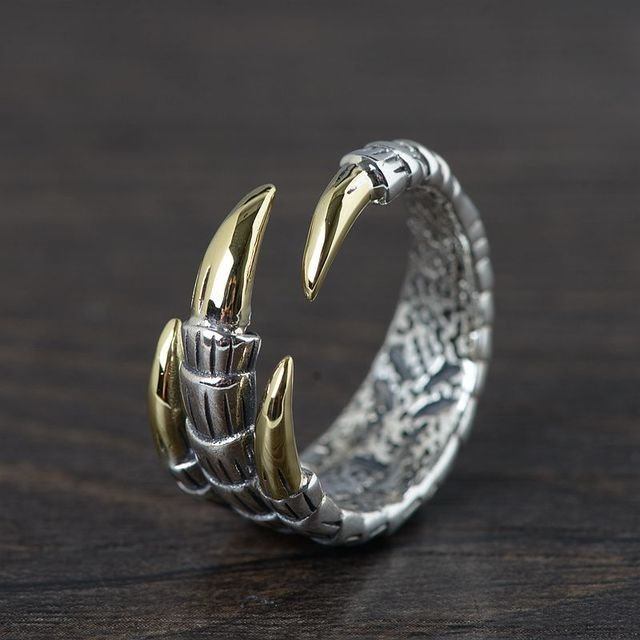 ORIGINAL 925 STERLING SILVER EAGLE CLAW RINGS