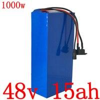 48 v 15ah 배터리 팩 48 v 15ah 1000 w 전기 자전거 배터리 48 v 리튬 이온 배터리 30a bms 및 충전기 무료 세관 세금