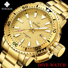 Модные мужские часы wwoor 2021 из нержавеющей стали роскошные