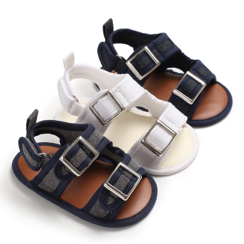 2019 New Baby Shoes Summer Boys Fashion Sandals Anti-Slip Sneakers Infant Shoes 0-18 Month Solid Baby Sandals