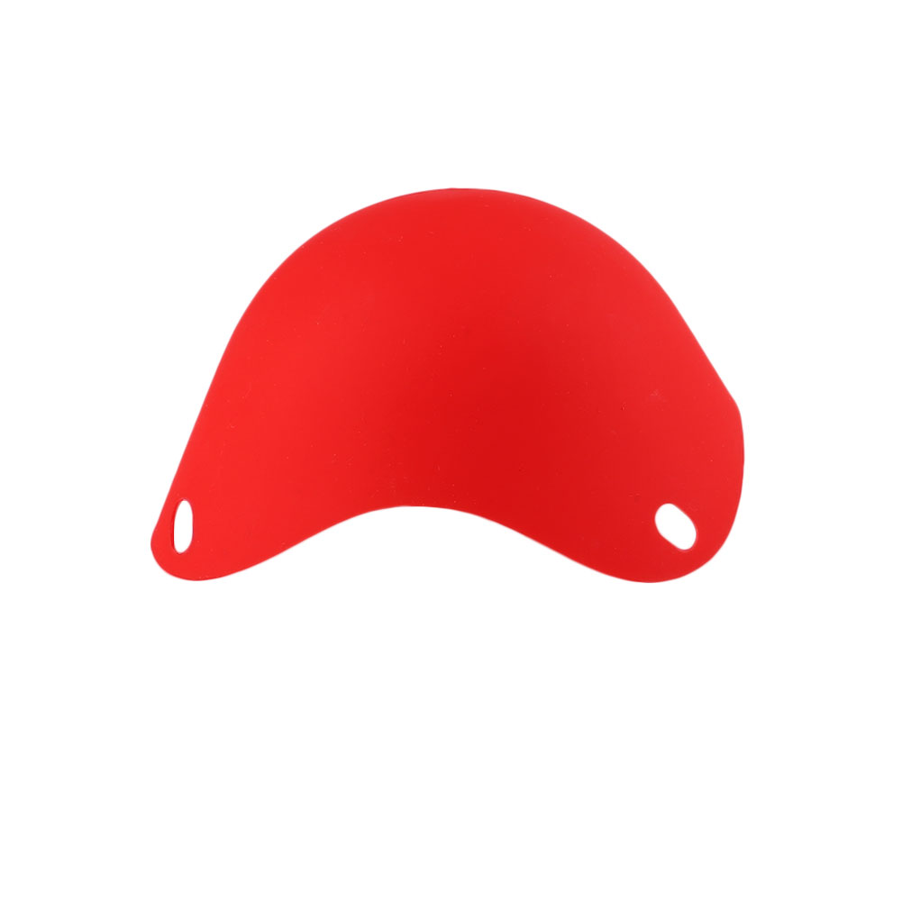 DIY натуральный силиконовый яичный котел Защита окружающей среды яйцо Пароварка многоцветный - Цвет: Red