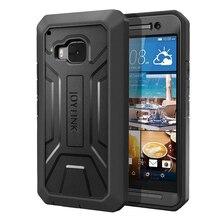 Para htcone m9 caso de telefone proteção resistente capa joylink embutido protetor de tela defender negócio preto