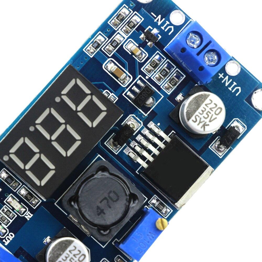 LM2596 DC Step Down Modul LM2596S DC 4.0 ~ 40V zu 1,25-37V Einstellbare Spannungs Regler Mit LED Voltmeter