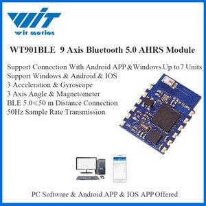 Image 1 - WitMotion Bluetooth BLE 5.0 9 eksenli WT901BLE düşük tüketim 50m açı İvme jiroskop manyetometre MPU9250 PC/android