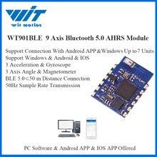Witmotion bluetooth ble 5.0 9 axis wt901ble baixo consumo de 50m ângulo aceleração giroscópio magnetômetro mpu9250 para pc/android