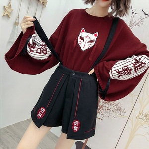Harajuku Chinese Top Japanese Sweets Ladies Tops And Blouses 2020 Preppy Style Chinese Style Clothing Women Clothes 10533