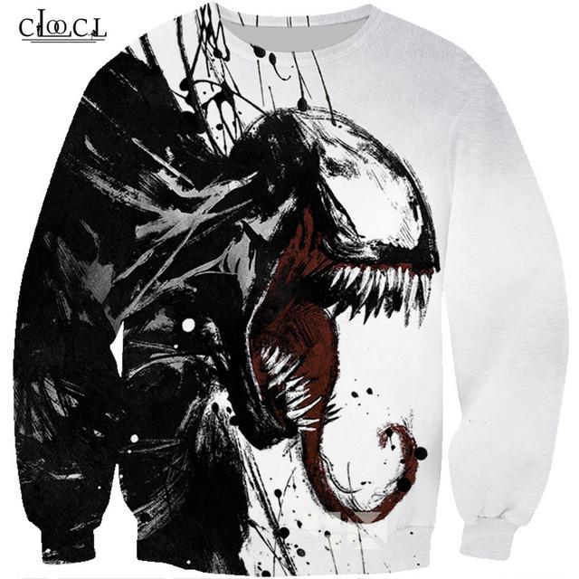 New venom T-shirt Fashion Casual Short Sleeve Tee Shirt Men and Women Trend Youth Cool T-shirt Men's Hoodies T-shirt Sweatshirts