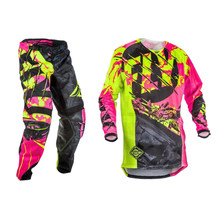 Fly Fish Jersey & Broek Combo Motocross Mx Racing Pak Dirt Bike Atv Rijden Gear Set Dunne Fietsen Racewear S-XXL dropshipping(China)