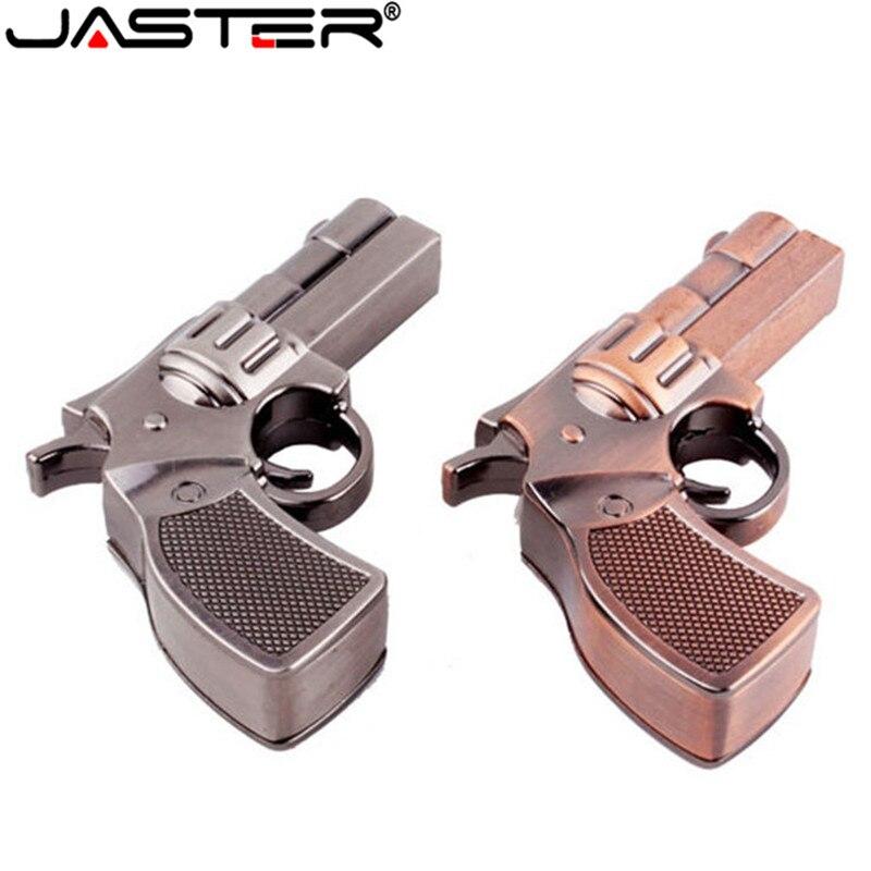 JASTER Gun Shape USB Flash Drive Pen Drive Fold Storage Pendrive Pistol Style 8gb 16GB 32gb USB 2.0 Memory Stick
