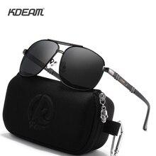 KDEAM Luxury Aluminum And Magnesium Men's Sunglasses Square