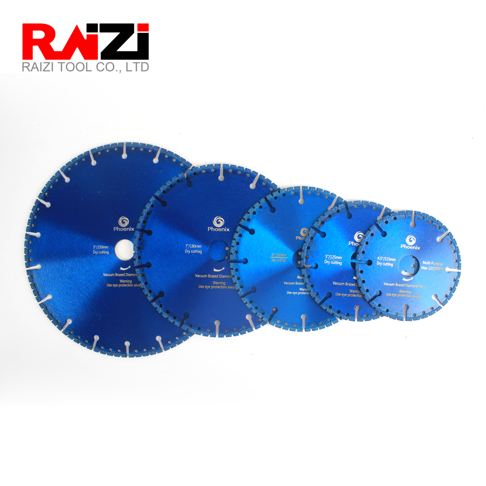Raizi 4.5-9 Inch Multi Saw Blades For Firefighters Rescue Teams Police Universal Brazed Diamond Cutting Disc