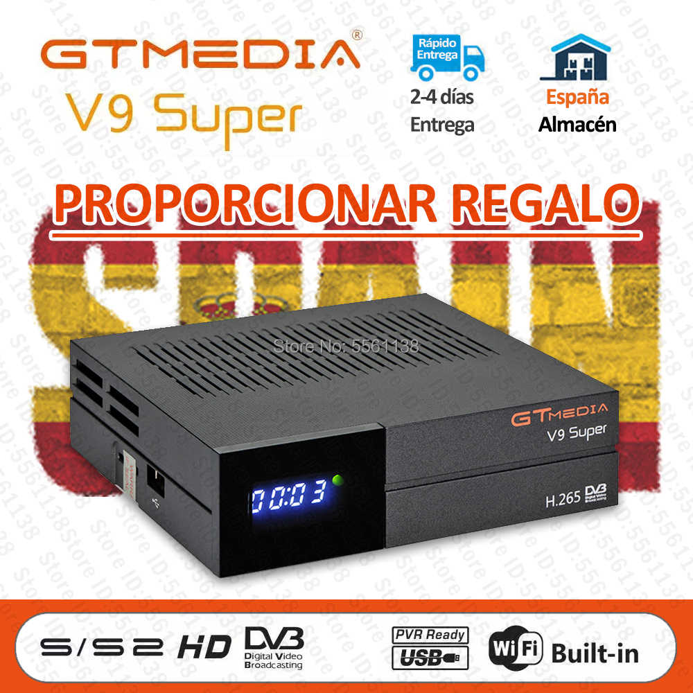 1080P GTMedia V9 Super Recepter Built-in WiFi h.265 Full HD DVB-S2 Freesat V9 Super stesso come gt media v8 nova Decoder