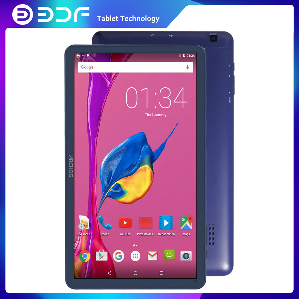 BDF 10 Inch Android Tablets Pc Android 5.1 Mobile Phone Call Tablets Pc Quad Core Dual Camera Dual SIM Card Blue Color