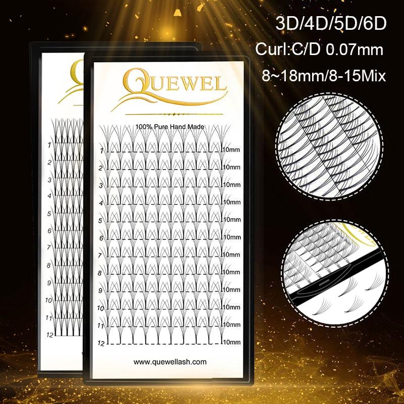 Ресницы для наращивания ресниц, объемные ресницы для удлинения ресниц 3D/4D/5D6D C/D curl норковые ресницы для наращивания ресниц Quewel