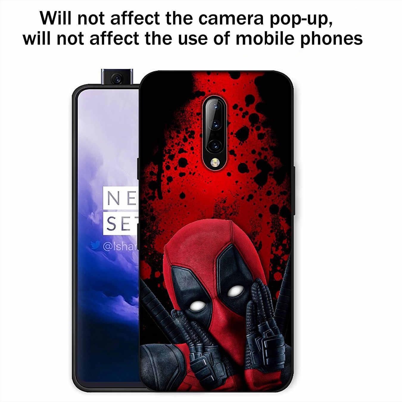 Deadpool süper kahraman yumuşak TPU siyah silikon telefon kılıfı OnePlus 7T 7 Pro 6 6T 5 5T tek artı 7Pro kapak