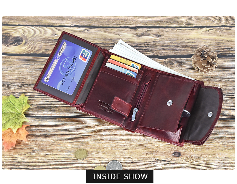 DICIHAYA Genuine Leather Women Wallet Coin Purse For Girls Female Small Portomonee Lady Purse Money Bag Card Holder Mini Clutch