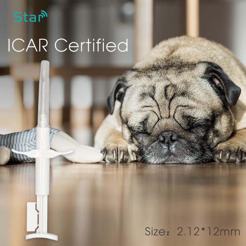 Top Sale10pcs ISO ICAR 2*12mm RFID Microchip 134.2KHz Cattle Syringe FDX-B Rfid Animal Id Injector EM4305 chip for pet identification